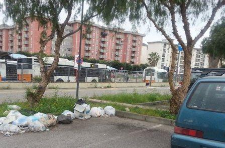spazzatura parcheggio basile navetta