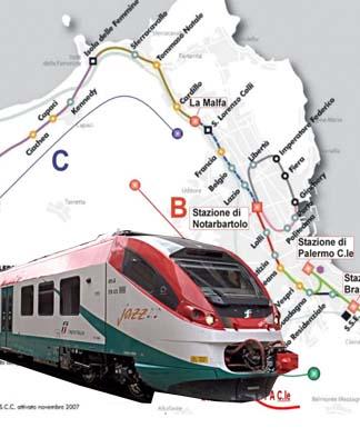 Treno passante ferroviario