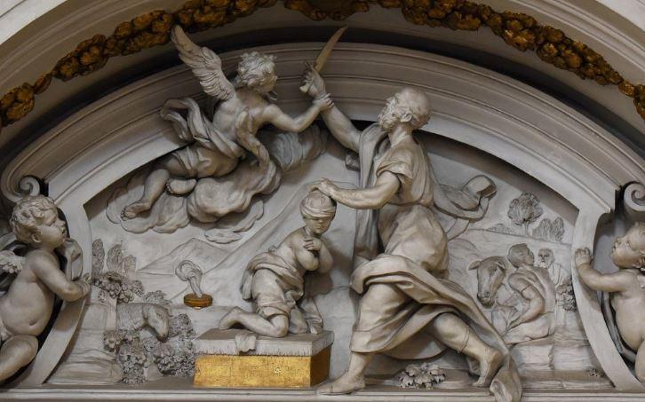 Sacrificio dI Isacco, chiesa di Sant'Agostino, Giacomo Serpotta