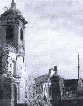 chiesa dopo i bombardamenti