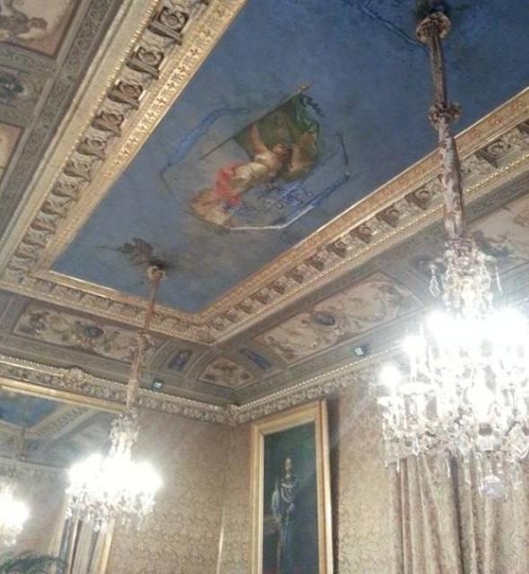 tetto sala gialla palazzo delle aquile