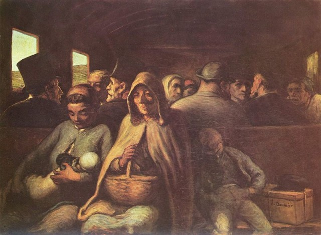 Daumier vagone di terza classe
