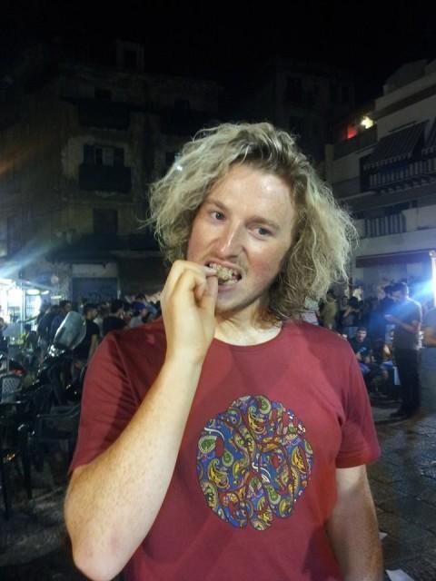 Eating Stigghiola