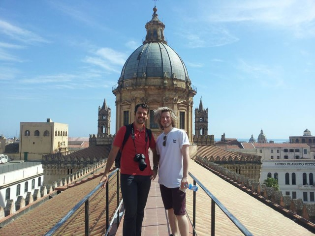 On the roofs of the Cathedral. With Samuele Schirò