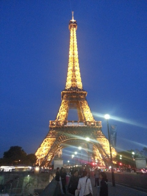 Parigi torre eiffel sera