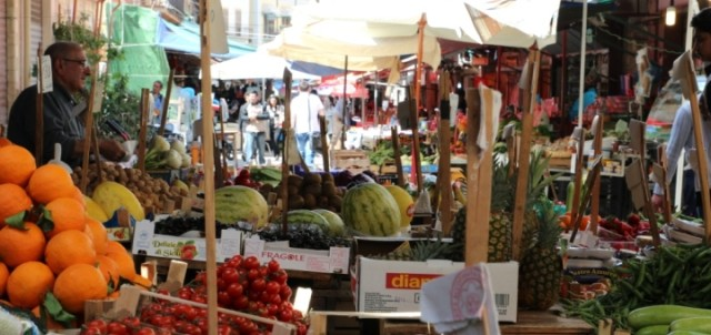 Mercato di Ballarò, verdure