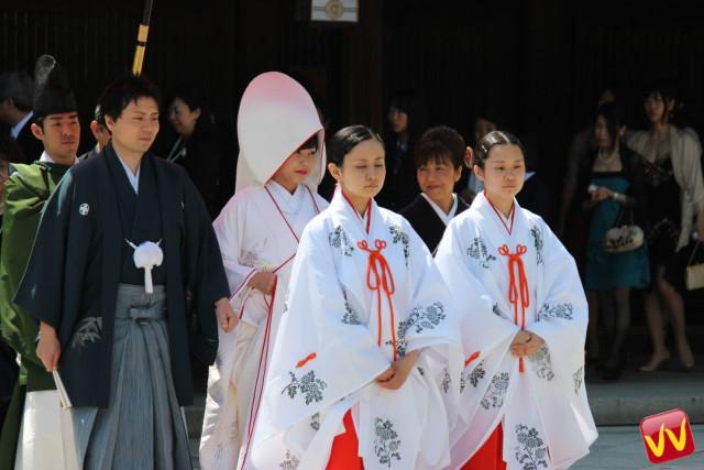 Matrimonio shintoista a Tokyo.