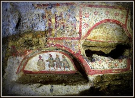 affreschi catacomba carini