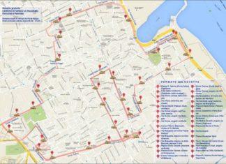 Mappa Navetta gratis Palermo centro storico