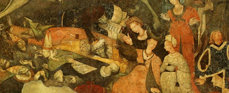 Trionfo_della_morte, gruppo dei trafitti