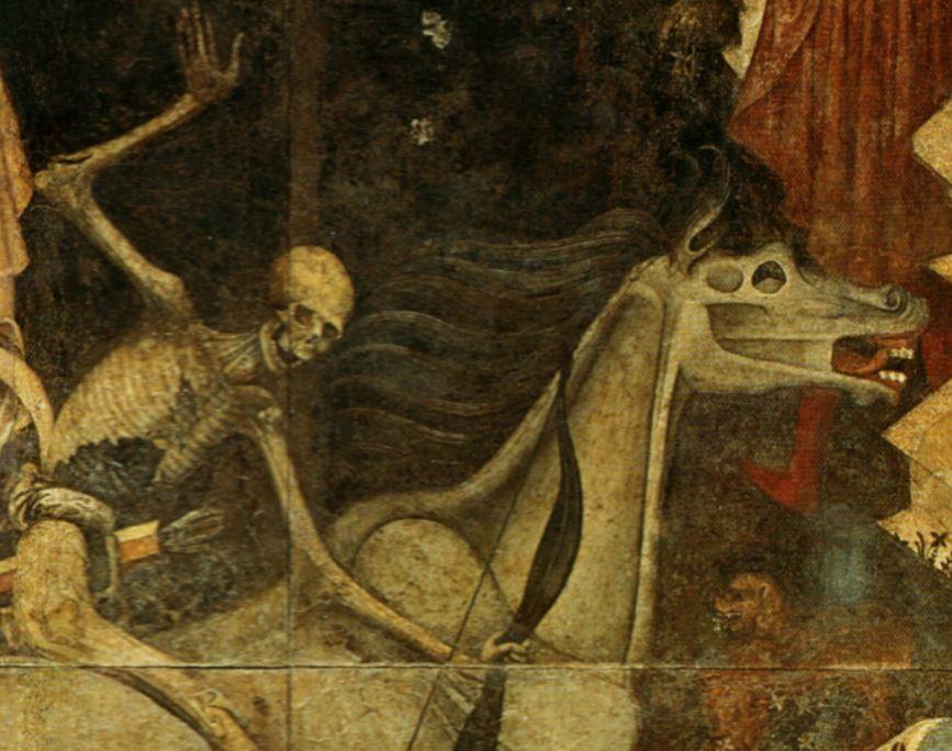 Trionfo_della_morte - morte e cavallo