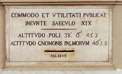 Lapide della meridiana della cattedrale