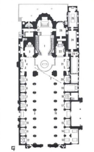 Pianta della meridiana della cattedrale