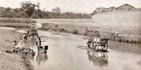 Foto antica fiume Oreto